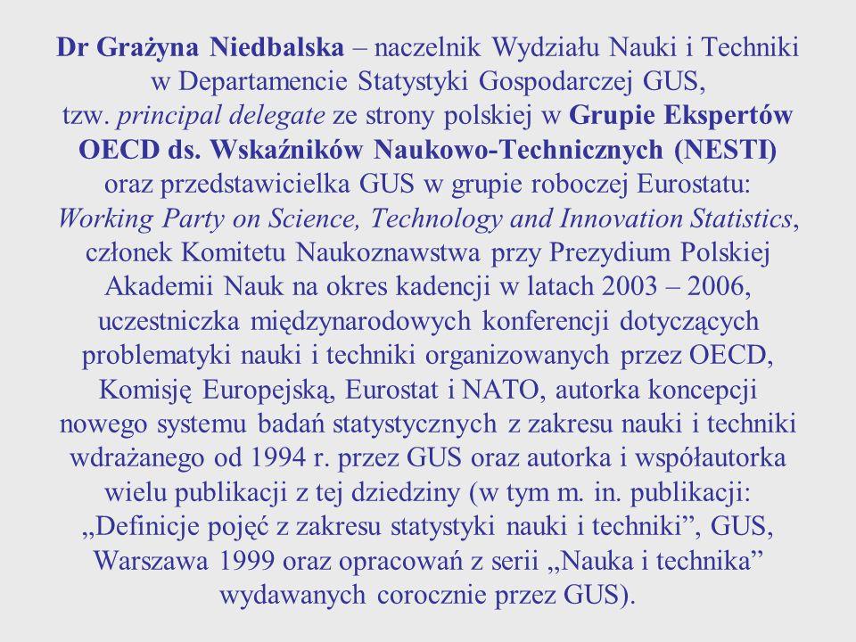 """"""" Działalność innowacyjna jako czynnik rozwoju w świetle teorii badań statystycznych z zakresu nauki i techniki"""