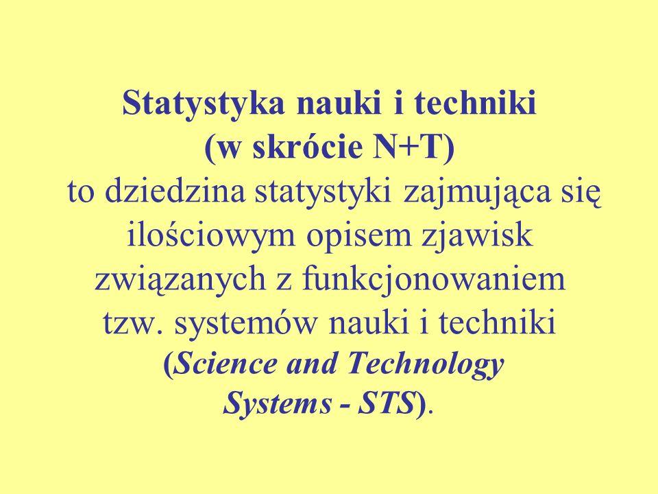Kompleksowa metodologia statystyki nauki i techniki, stanowiąca ogólnie przyjęty, międzynarodowy standard, opracowana została w ciągu ostatnich czterdziestu lat pod egidą OECD, a konkretnie jednej z grup roboczych Komitetu ds.