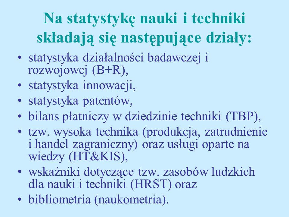 Badania statystyczne z zakresu nauki i techniki (N+T) oparte na międzynarodowych zaleceniach metodycznych zawartych w podręcznikach Frascati Family Manuals prowadzone są przez GUS od 1994 r.