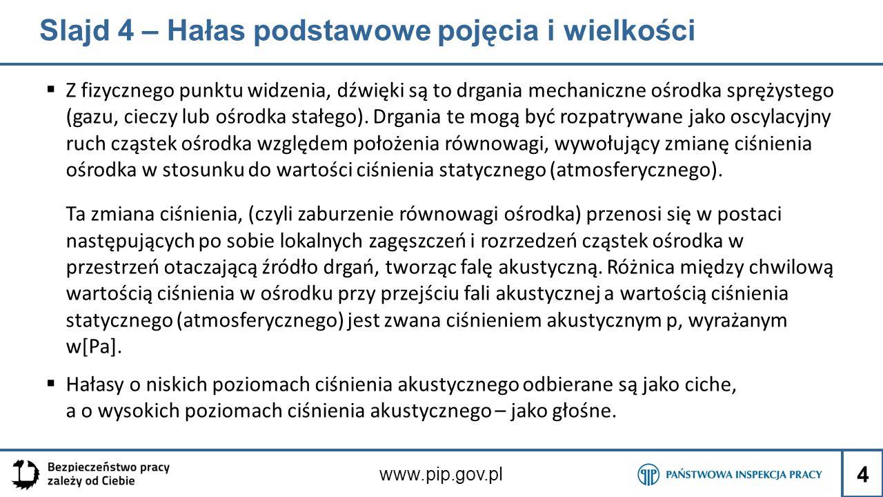 Slajdy: 60 - 61 Na zdjęciach przedstawiono przykłady wkładek przeciwhałasowych, nauszników z pałąkami oraz nauszników dostosowanych do stosowania razem z ze środkami głowy – mocowanych do hełm ochronnych lub wyposażonych w pałąki z tyłu głowy www.pip.gov.pl 55