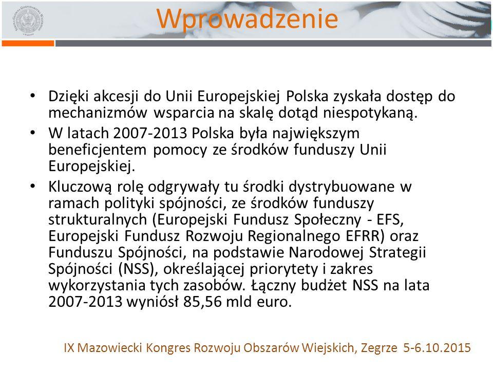 Wprowadzenie Dzięki akcesji do Unii Europejskiej Polska zyskała dostęp do mechanizmów wsparcia na skalę dotąd niespotykaną.