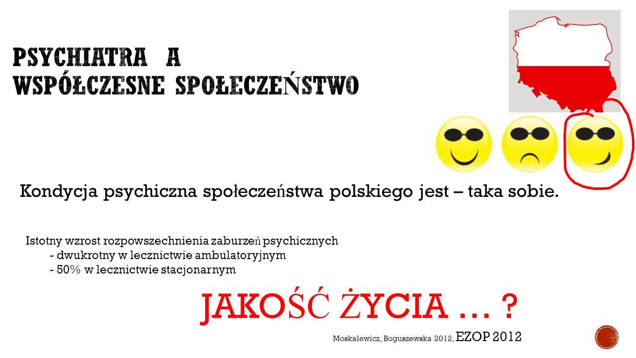 Moskalewicz, Boguszewska 2012, EZOP 2012 Kondycja psychiczna spo ł ecze ń stwa polskiego jest – taka sobie. Istotny wzrost rozpowszechnienia zaburze ń