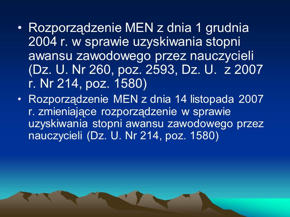 Rozporządzenie MEN z dnia 1 grudnia 2004 r.