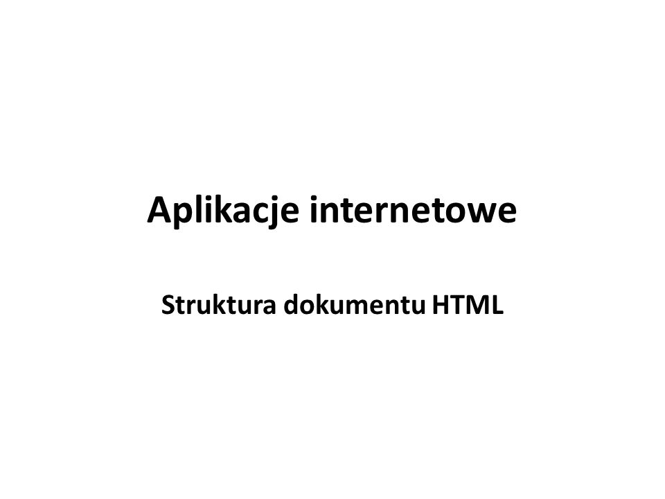 Czym jest HTML.