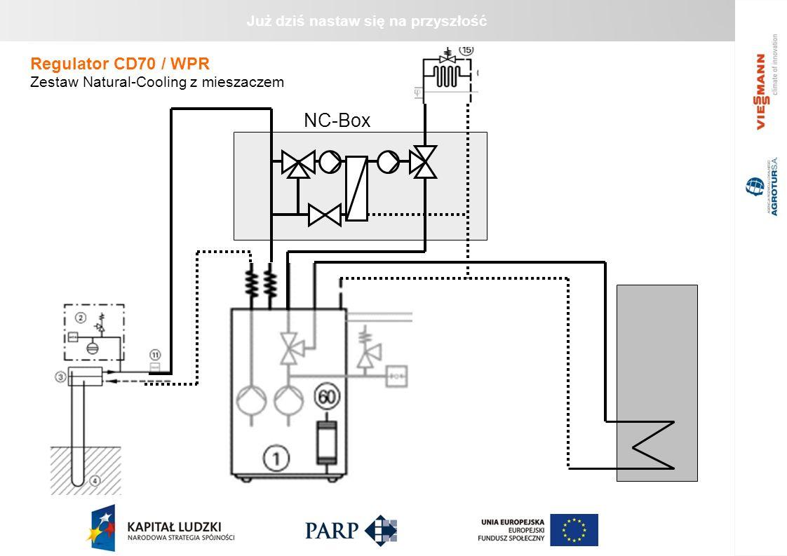 Już dziś nastaw się na przyszłość NC-Box Regulator CD70 / WPR Zestaw Natural-Cooling z mieszaczem
