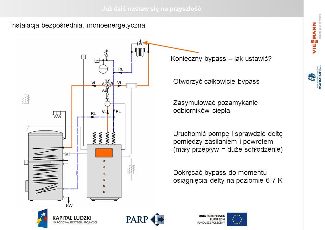Już dziś nastaw się na przyszłość Instalacja bezpośrednia monoenergetyczna ze zbiornikiem wyrównawczym Bypass – jak ustawić.