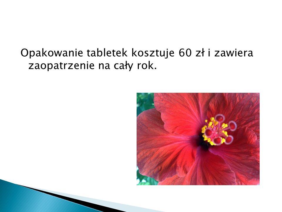 Opakowanie tabletek kosztuje 60 zł i zawiera zaopatrzenie na cały rok.
