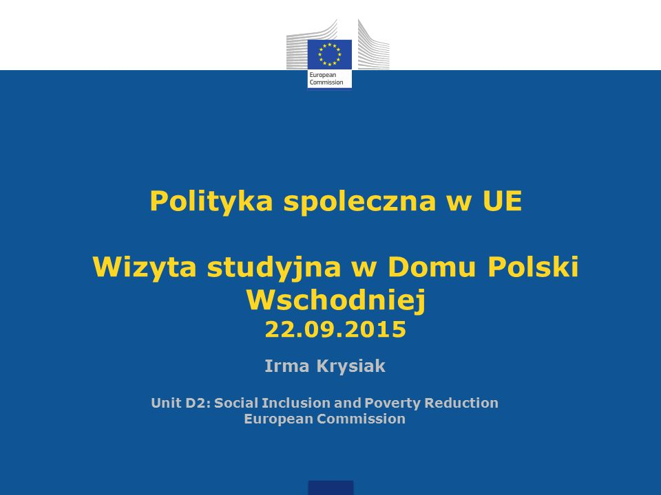 Polityka spoleczna: kompetencje UE vs.