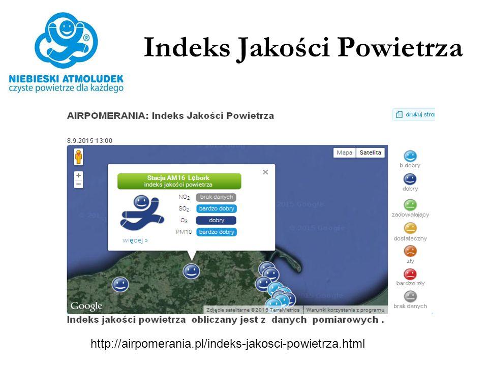 Indeks Jakości Powietrza http://airpomerania.pl/indeks-jakosci-powietrza.html