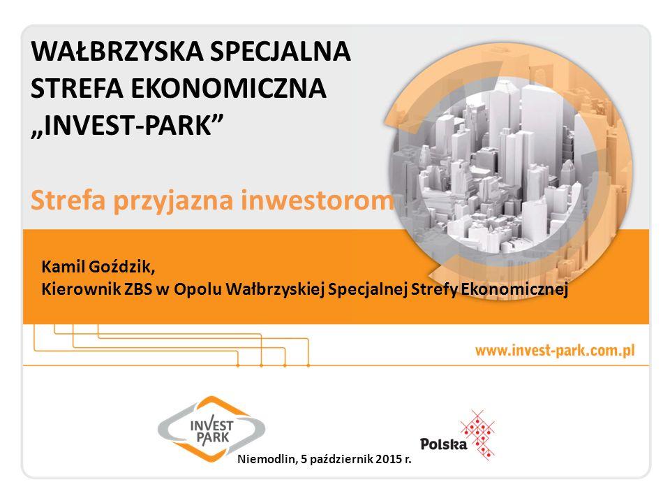 """Wałbrzyska Specjalna Strefa Ekonomiczna """"INVEST-PARK Strefa dobrych inwestycji 178 przedsiębiorców 19,9 mld PLN inwestycji 41,3 tys."""