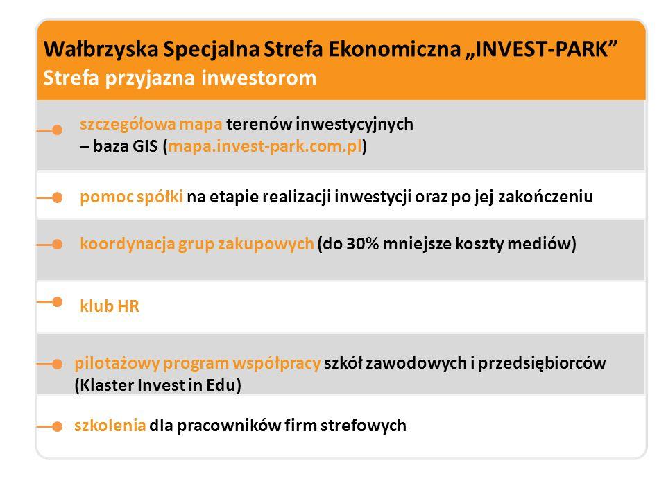 """Wałbrzyska Specjalna Strefa Ekonomiczna """"INVEST-PARK"""" Strefa przyjazna inwestorom szczegółowa mapa terenów inwestycyjnych – baza GIS (mapa.invest-park"""