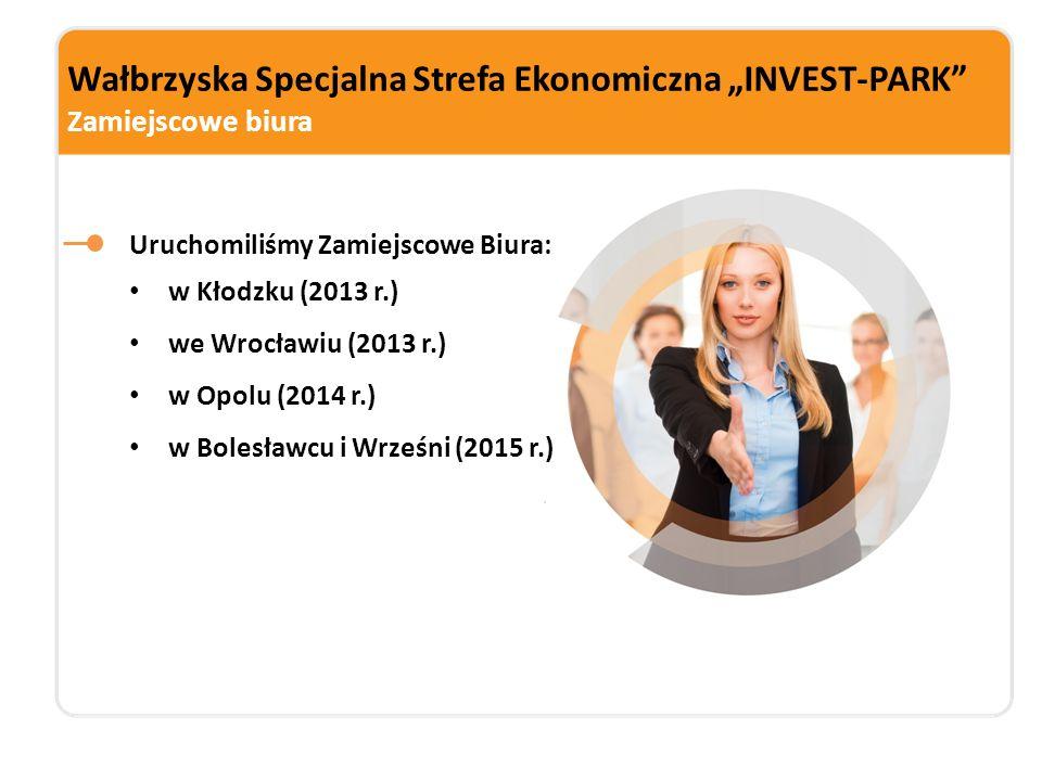 """Wałbrzyska Specjalna Strefa Ekonomiczna """"INVEST-PARK"""" Zamiejscowe biura Uruchomiliśmy Zamiejscowe Biura: w Kłodzku (2013 r.) we Wrocławiu (2013 r.) w"""