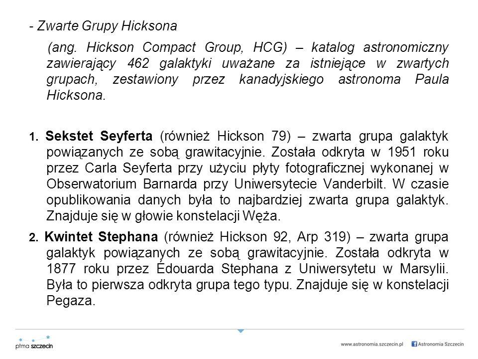 - Zwarte Grupy Hicksona (ang.