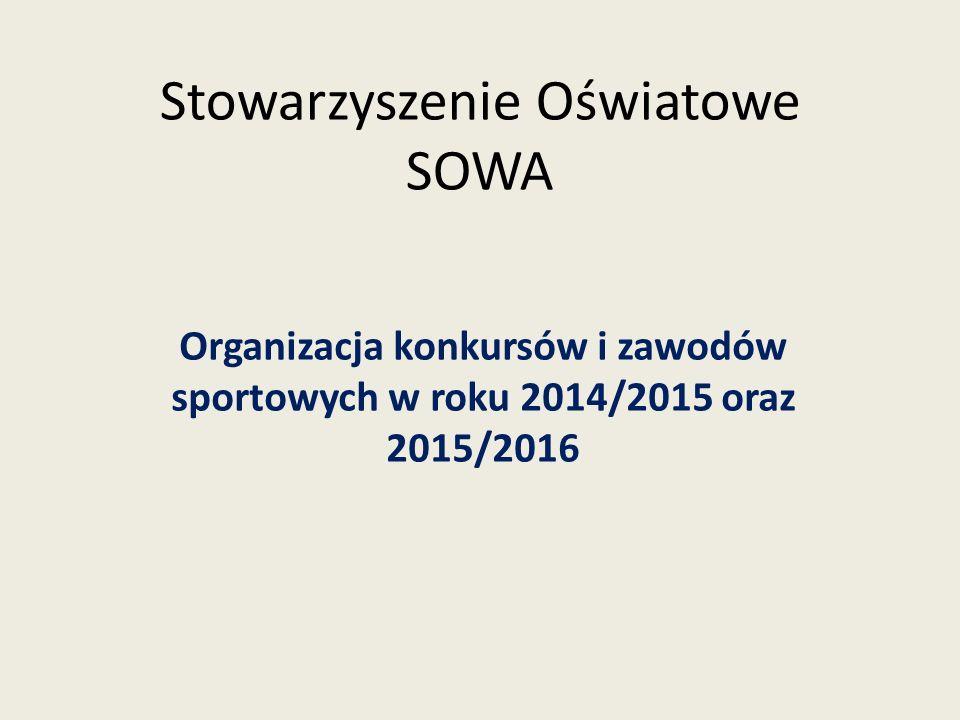 Rok 2014/15 Zorganizowano 66 konkursów.