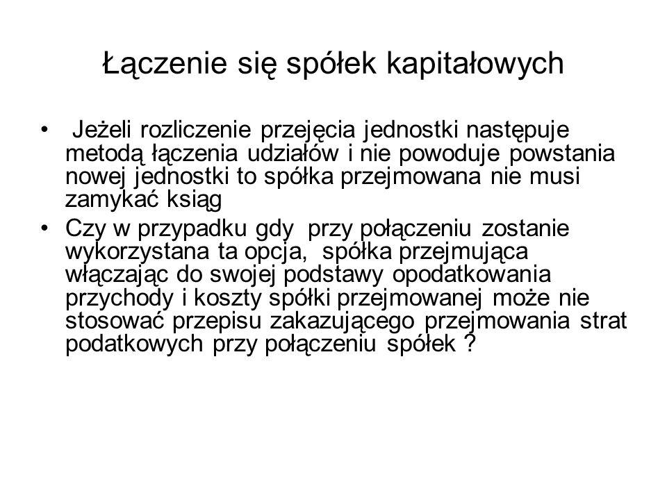 Łączenie się spółek kapitałowych Wyrok WSA w Poznaniu z 16.