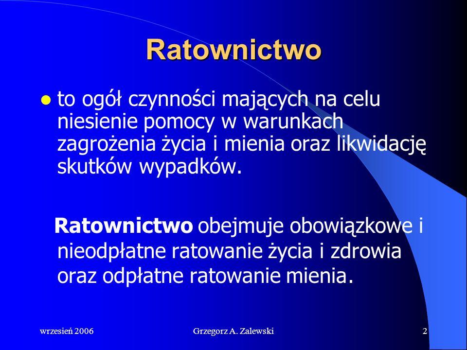 wrzesień 2006Grzegorz A. Zalewski RATOWNICTWO www.szkwal.pl SZKOŁAŻEGLARSTWA SZKOŁA ŻEGLARSTWA