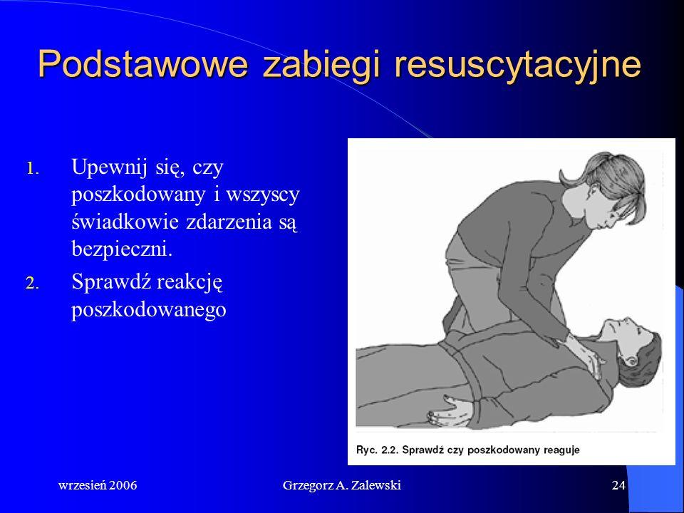 wrzesień 2006Grzegorz A. Zalewski23 Pierwsza pomoc