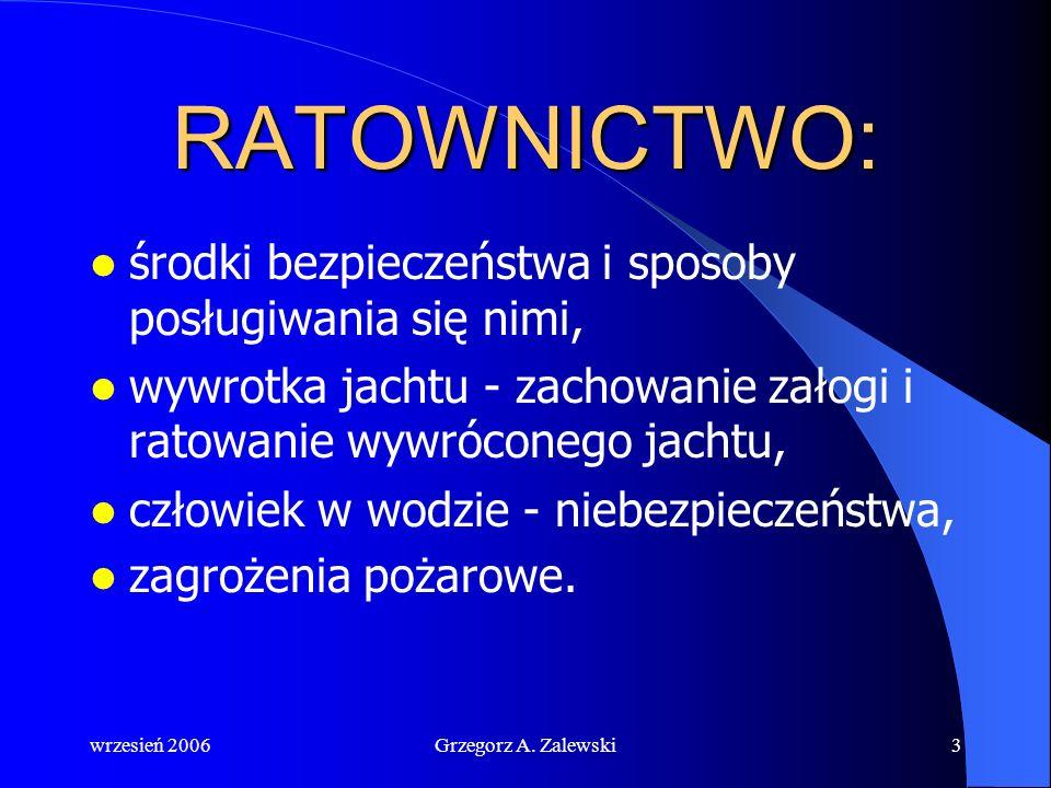 wrzesień 2006Grzegorz A. Zalewski2 Ratownictwo to ogół czynności mających na celu niesienie pomocy w warunkach zagrożenia życia i mienia oraz likwidac