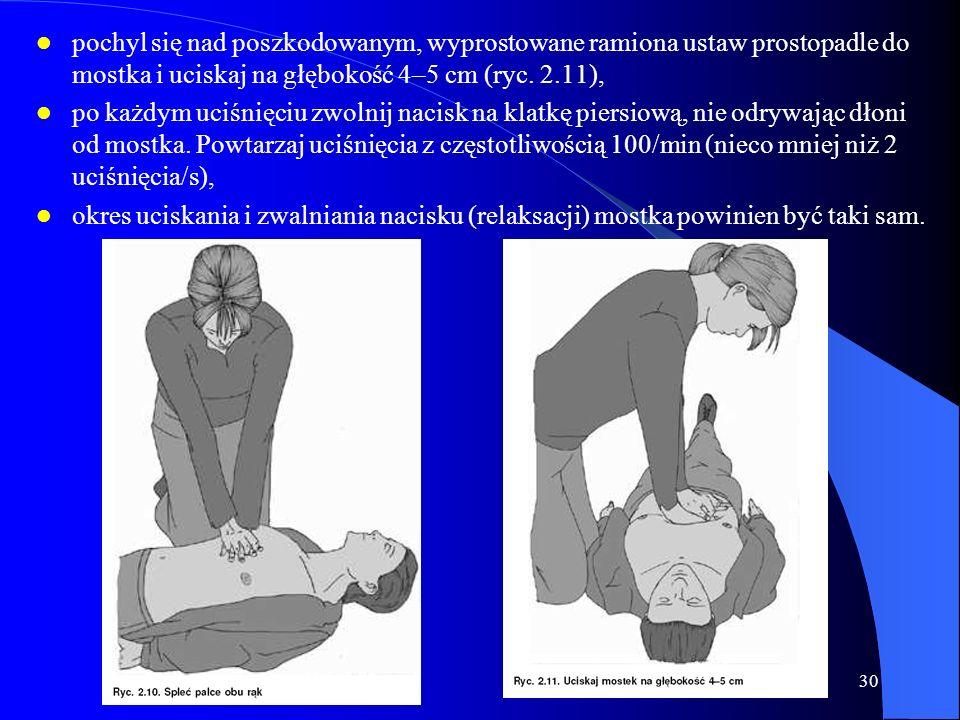 wrzesień 200629 5b. Jeżeli oddech nie jest prawidłowy, wyślij kogoś po pomoc, a jeżeli jesteś sam, zostaw poszkodowanego i wezwij pogotowie, wróć i ro