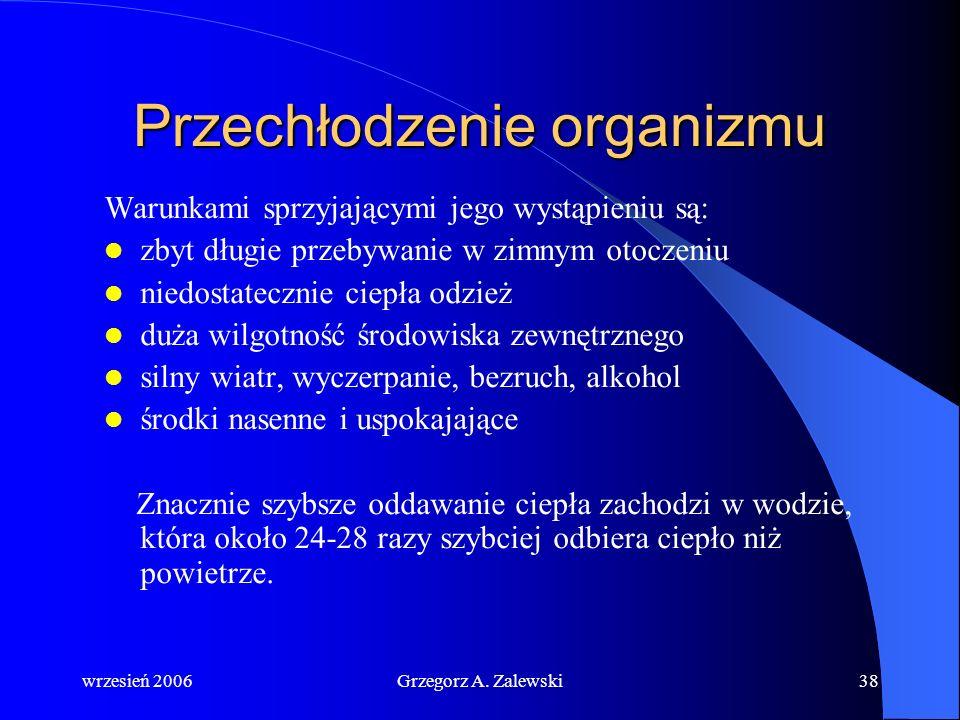 wrzesień 2006Grzegorz A. Zalewski37 Wstrząs termiczny Wstrząs termiczny zdarzyć się może wówczas, kiedy jesteśmy poddani gwałtownej zmianie temperatur