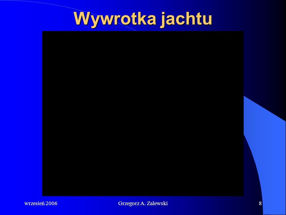 wrzesień 2006Grzegorz A. Zalewski7 Kamizelki ratunkowe – nowe wymagania Od początku 2005 roku na jachcie śródlądowym muszą się znajdować kamizelki rat