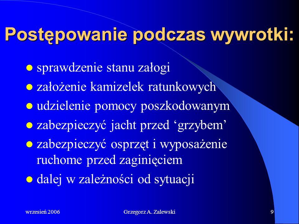 wrzesień 2006Grzegorz A. Zalewski8 Wywrotka jachtu
