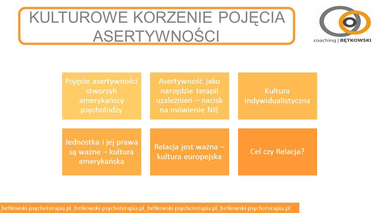 betkowski-psychoterapia.pl_betkowski-psychoterapia.pl_betkowski-psychoterapia.pl_betkowski-psychoterapia.pl_betkowski-psychoterapia.pl DEFINICJA ASERTYWNOŚCI o Rodzaj zachowania wyrażający szacunek do siebie i do drugiej osoby.