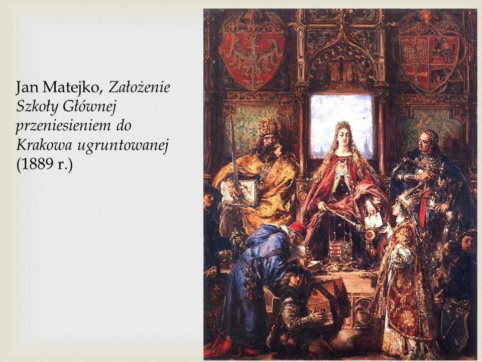 Jan Matejko, Założenie Szkoły Głównej przeniesieniem do Krakowa ugruntowanej (1889 r.)