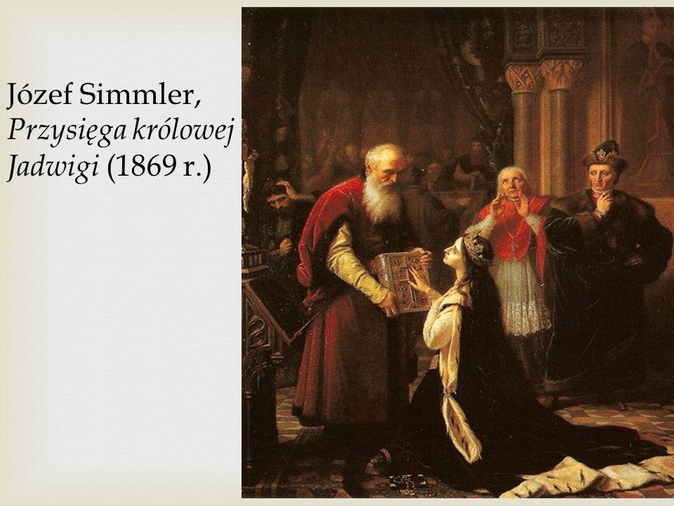 Józef Simmler, Przysięga królowej Jadwigi (1869 r.)