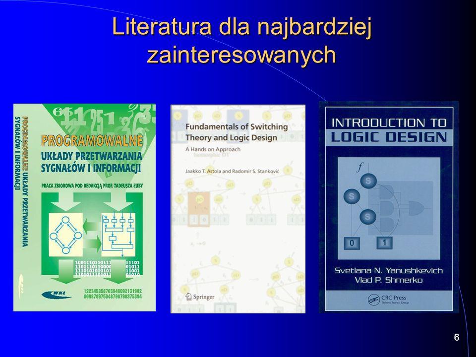 Specyfikacja HDL Synteza funkcjonalna Synteza logiczna Odwzorowanie technologiczne 17 Komputerowe projektowanie… …aż do zaprogramowania układu.
