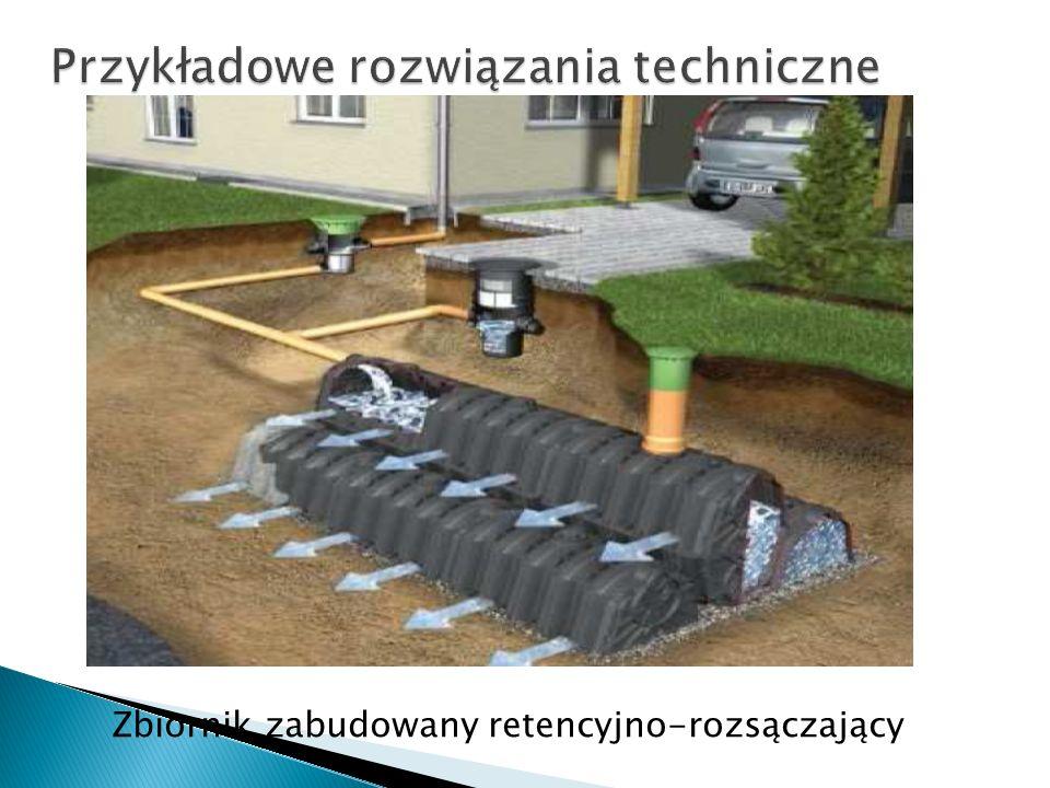 Zbiornik zabudowany retencyjno-rozsączający