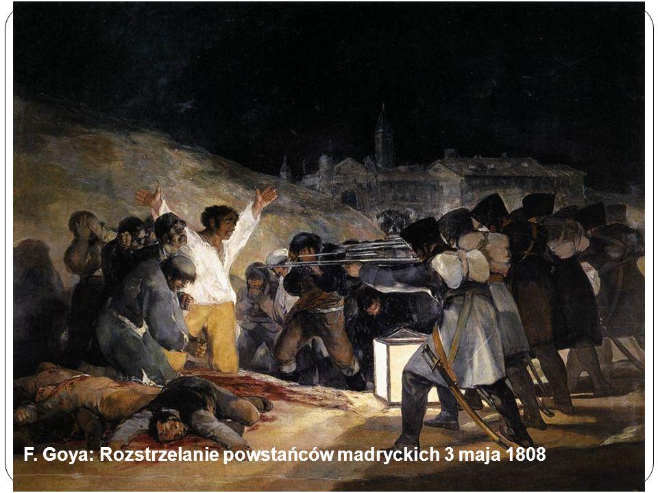 F. Goya: Rozstrzelanie powstańców madryckich 3 maja 1808