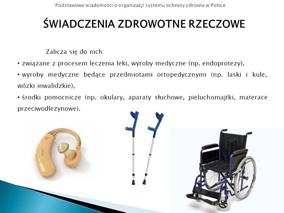 ZLECENIA NA PRZEDMIOTY ORTOPEDYCZNE I ŚRODKI POMOCNICZE Zlecenia, na: przedmioty ortopedyczne (takie jak na przykład wózki inwalidzkie, aparaty ortopedyczne, protezy, aparaty słuchowe, czy materace przeciwodleżynowe) środki pomocnicze (np.