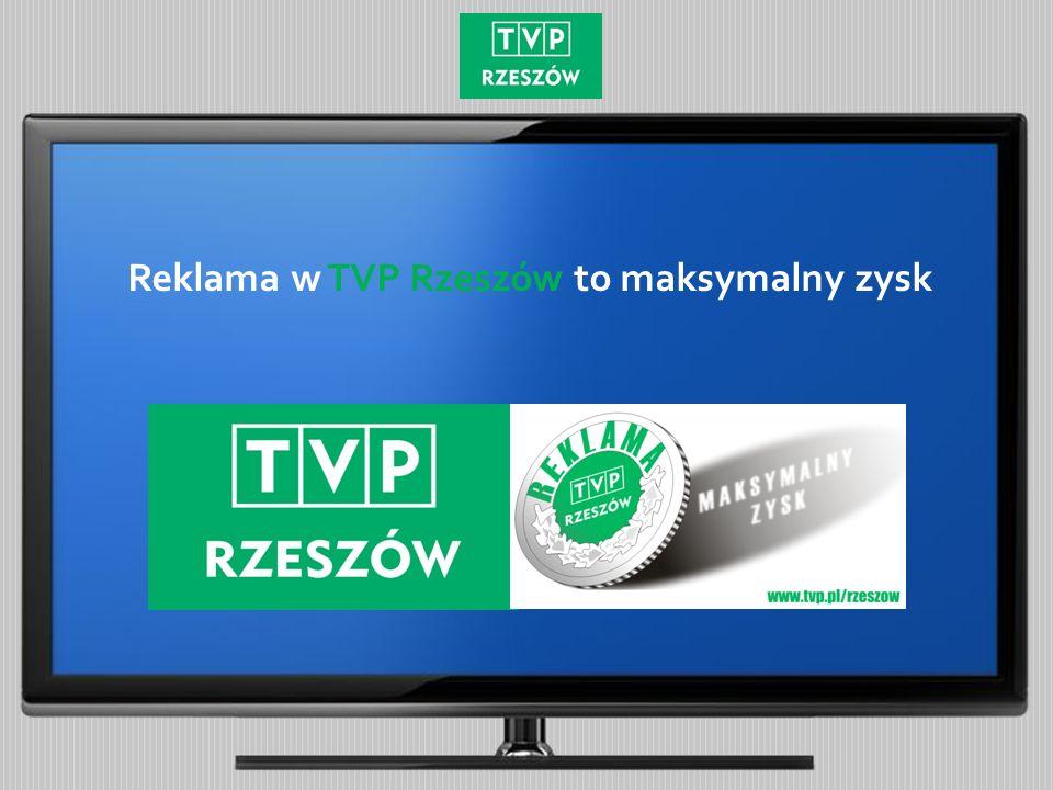 Reklama w TVP Rzeszów to maksymalny zysk