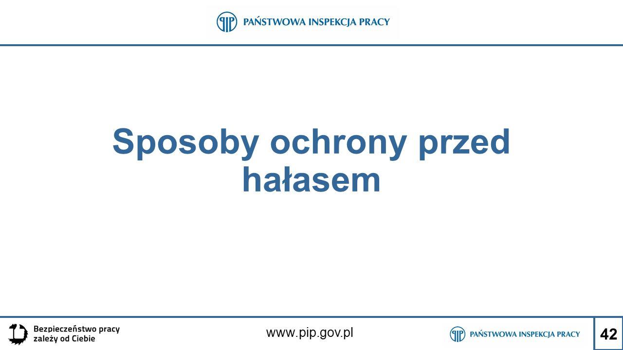 www.pip.gov.pl Sposoby ochrony przed hałasem 42