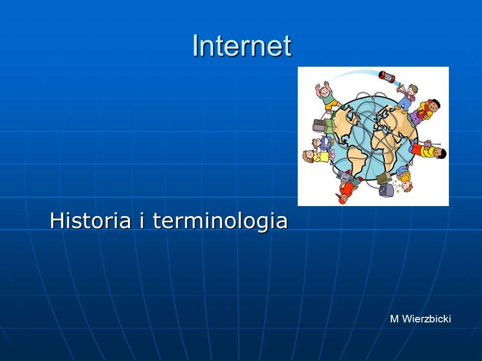 Początki Internetu Historia Internetu zaczyna się 29 września 1969 roku, kiedy to w Uniwersytecie Kalifornijskim w Los Angeles (UCLA), a wkrótce potem w trzech następnych uniwersytetach zainstalowano pierwsze węzły sieci ARPANET - bezpośredniego przodka dzisiejszego Internetu.
