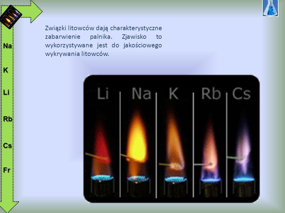 3.ZASTOSOWANIE I OTRZYMYWANIE Najważniejszymi litowcami są lit, sód i potas.
