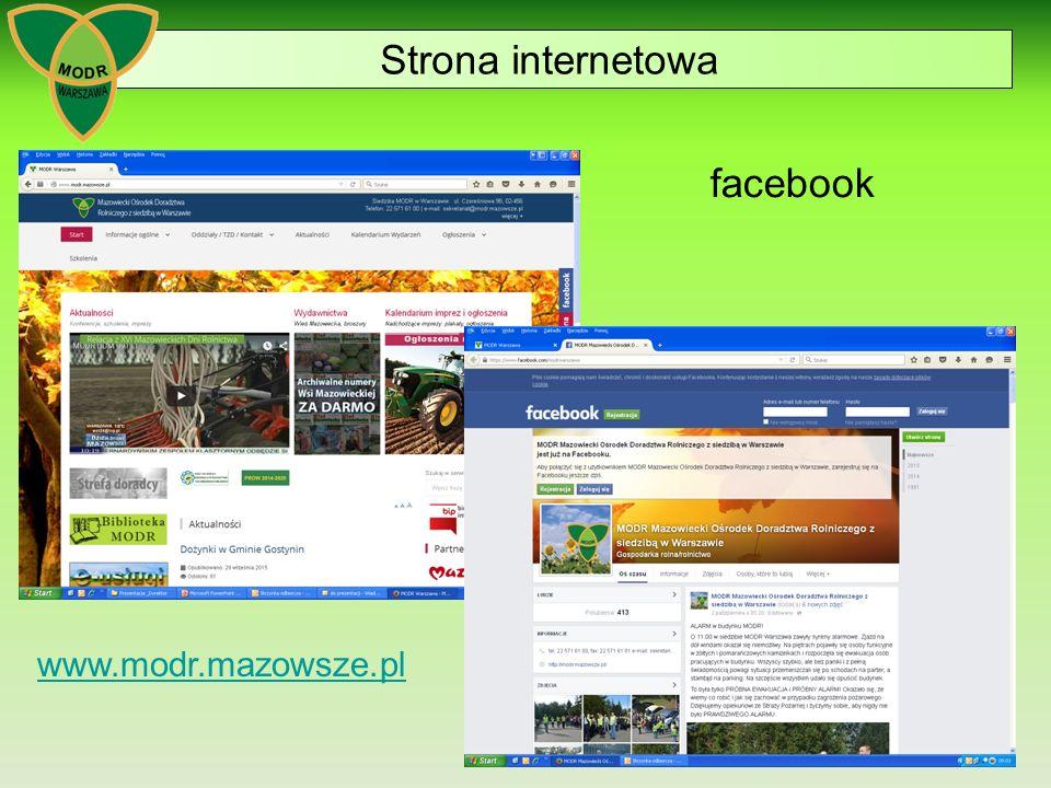 21 www.modr.mazowsze.pl Strona internetowa facebook