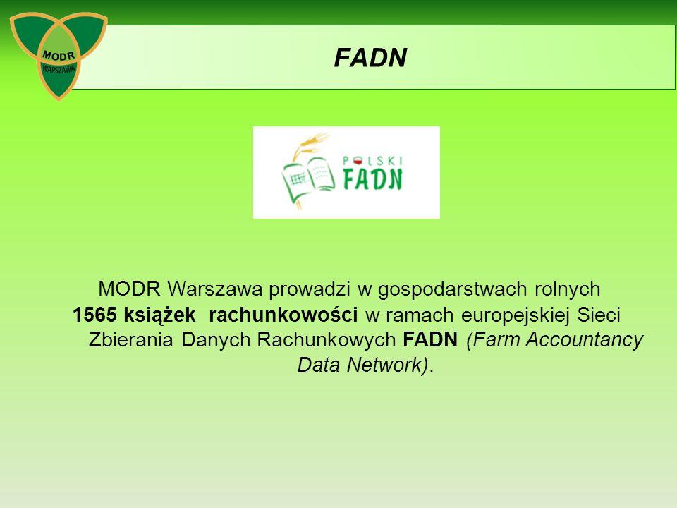FADN MODR Warszawa prowadzi w gospodarstwach rolnych 1565 książek rachunkowości w ramach europejskiej Sieci Zbierania Danych Rachunkowych FADN (Farm Accountancy Data Network).