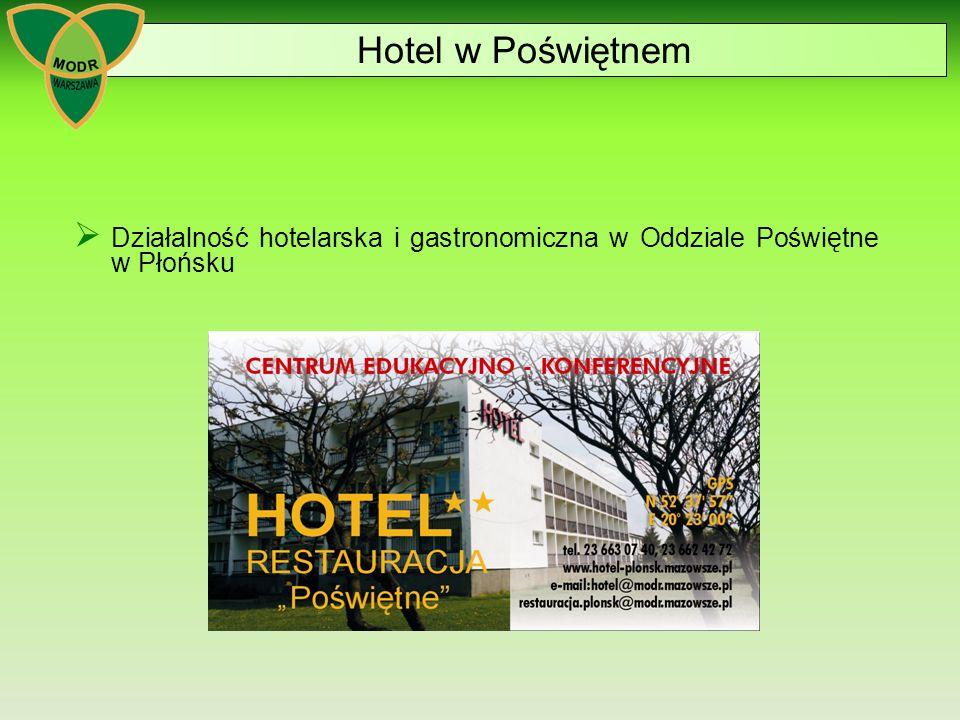  Działalność hotelarska i gastronomiczna w Oddziale Poświętne w Płońsku Hotel w Poświętnem