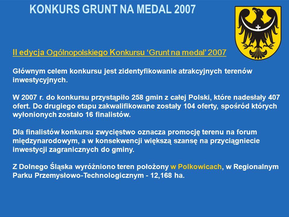 KONKURS GRUNT NA MEDAL 2007 II edycja Ogólnopolski ego K onkurs u 'Grunt na medal' 2007 Głównym celem konkursu jest zidentyfikowanie atrakcyjnych tere