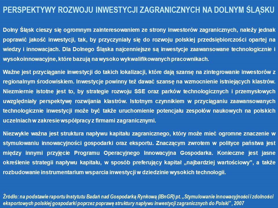 Dolny Śląsk cieszy się ogromnym zainteresowaniem ze strony inwestorów zagranicznych, należy jednak poprawić jakość inwestycji, tak, by przyczyniały si