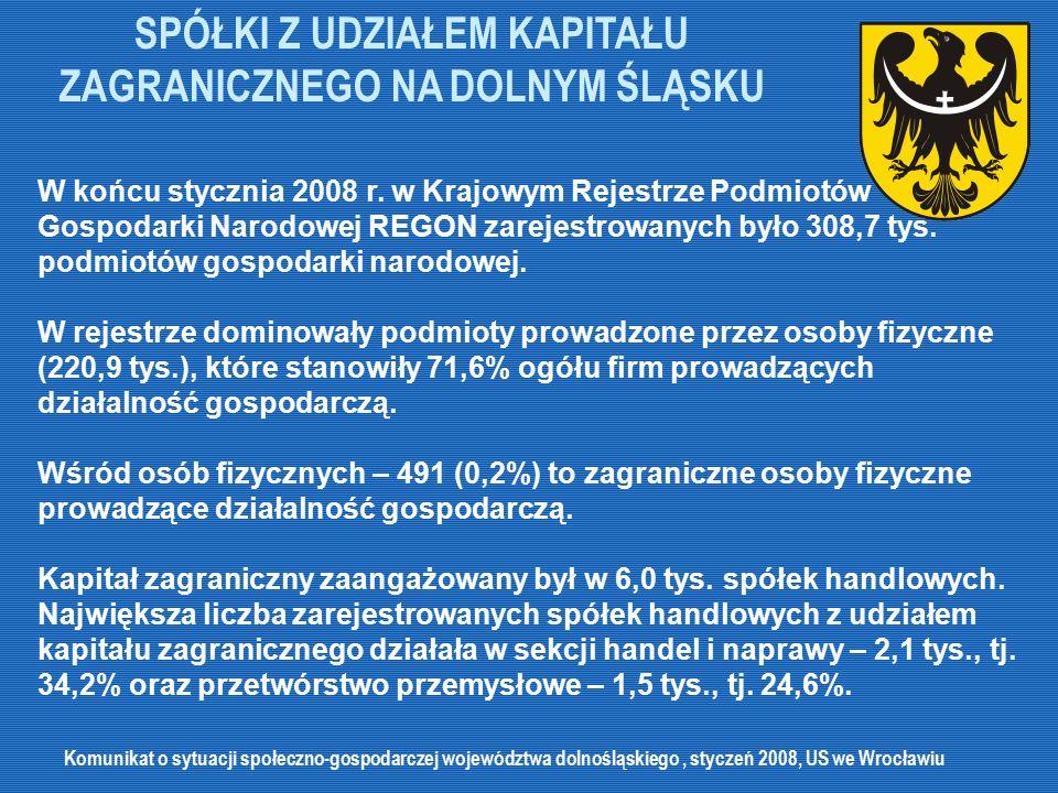 PERSPEKTYWY ROZWOJU INWESTYCJI ZAGRANICZNYCH NA DOLNYM ŚLĄSKU Dolnośląskie jest doskonałą lokalizacją dla fabryk sprzętu AGD.