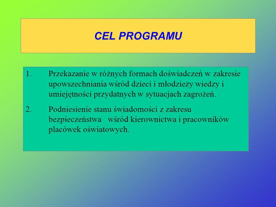 Przedstawienie założeń programu Bezpieczne życie , realizowanego przy współpracy : 1.Szwedzkiej Ligi Obrony Cywilnej 2.Komendy Głównej Państwowej Straży Pożarnej 3.