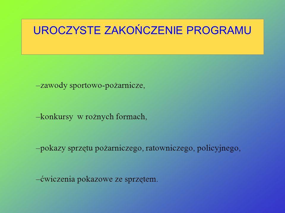ZADANIA DLA KG PSP Koordynacja prac związanych z realizacją programu w układzie międzynarodowym i krajowym, nadzór nad jego przebiegiem, Przekazanie m
