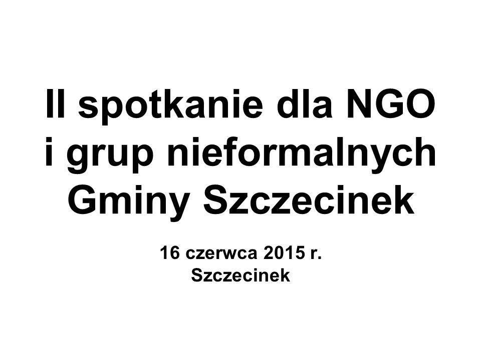 II spotkanie dla NGO i grup nieformalnych Gminy Szczecinek 16 czerwca 2015 r. Szczecinek