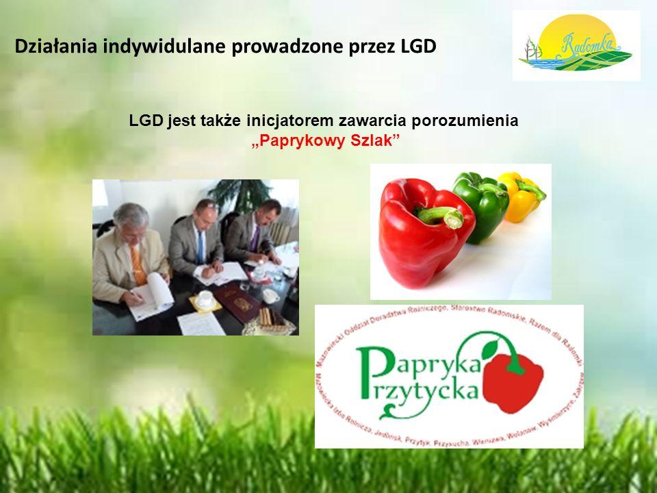 """Działania indywidulane prowadzone przez LGD LGD jest także inicjatorem zawarcia porozumienia """"Paprykowy Szlak"""