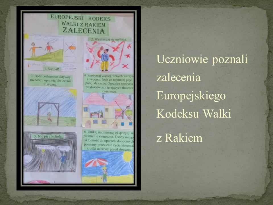 Uczniowie poznali zalecenia Europejskiego Kodeksu Walki z Rakiem
