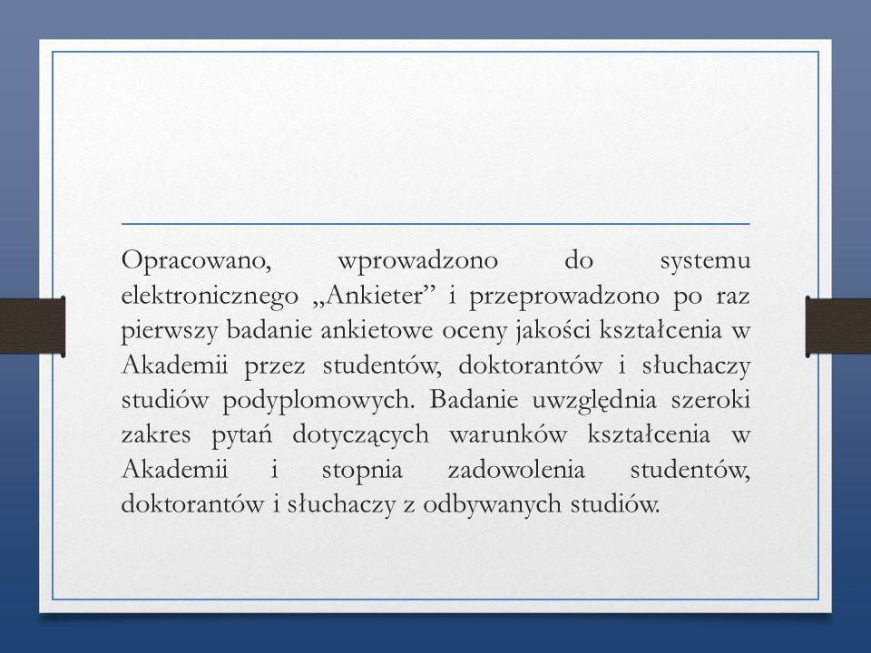Uzupełnieniem sprawozdania z funkcjonowania USZJK jest analiza SWOT.