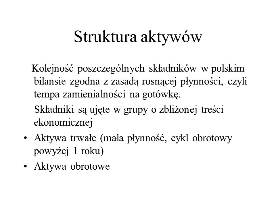 Formy aktywów 1.